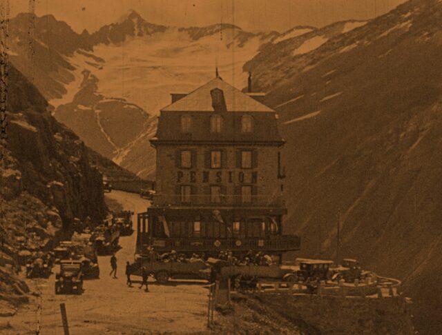 Alpenfahrten in der Schweiz - Reisebilder in 3 Teilen - 2. Teil / Excursions en automobiles dans les alpes suisses - Tableaux de voyages en 3 parties - deuxième partie