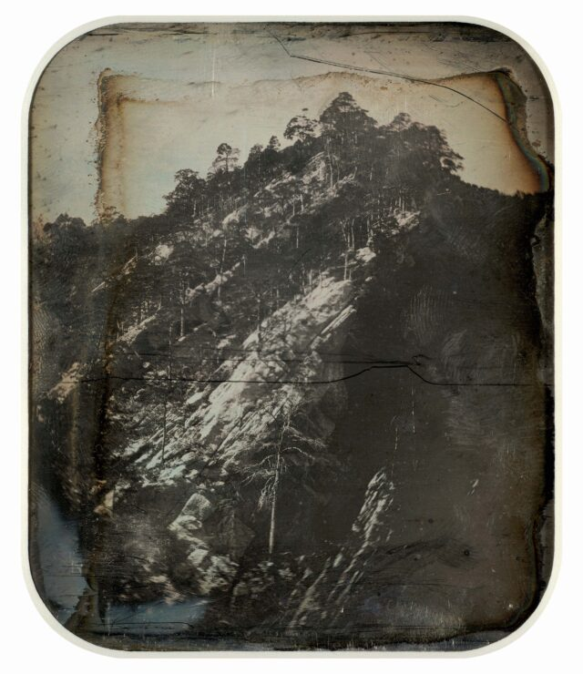 Roches calcaires. Paysage du Jura bernois (?). [Vue inversée]