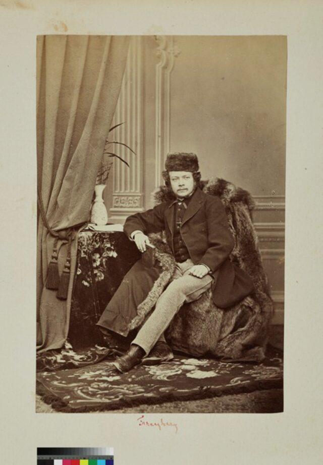 portrait, homme, manteau de fourrure (P.2.D.2.09.18.001)