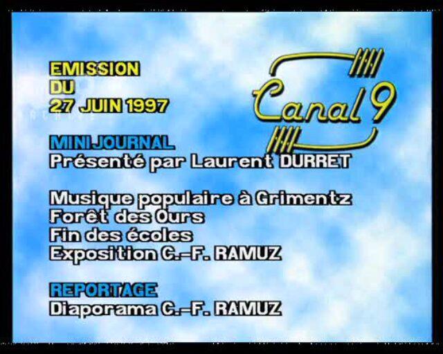 Emission du 27.06.1997