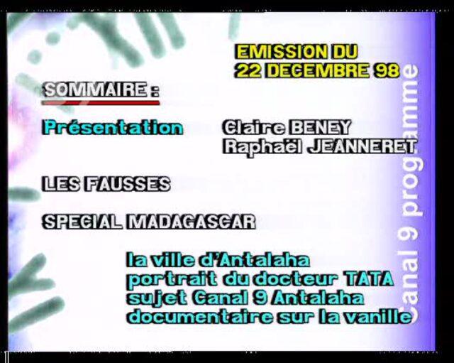 Emission du 22.12.1998