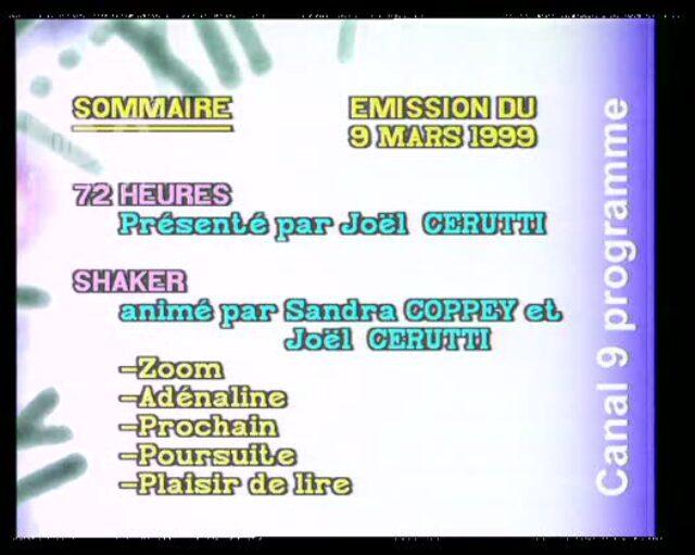 Emission du 09.03.1999