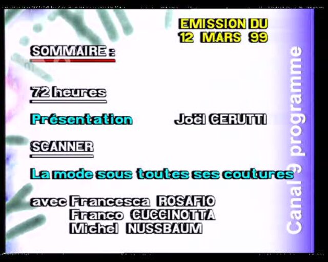 Emission du 12.03.1999