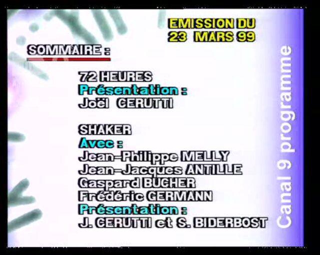 Emission du 23.03.1999