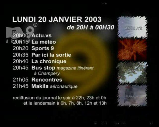 Emission du 20.01.2003