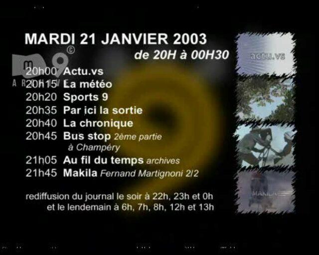 Emission du 21.01.2003