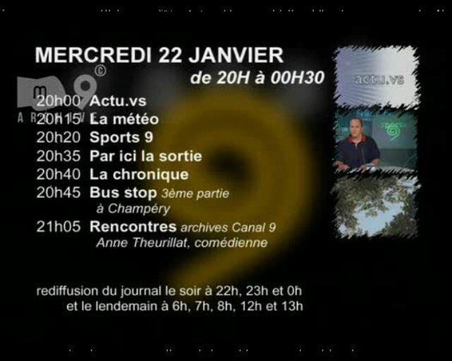 Emission du 22.01.2003