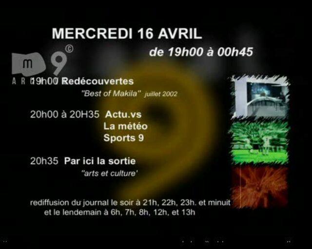 Emission du 16.04.2003