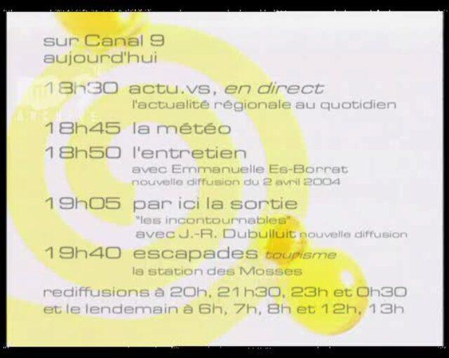 Emission du 30.07.2004