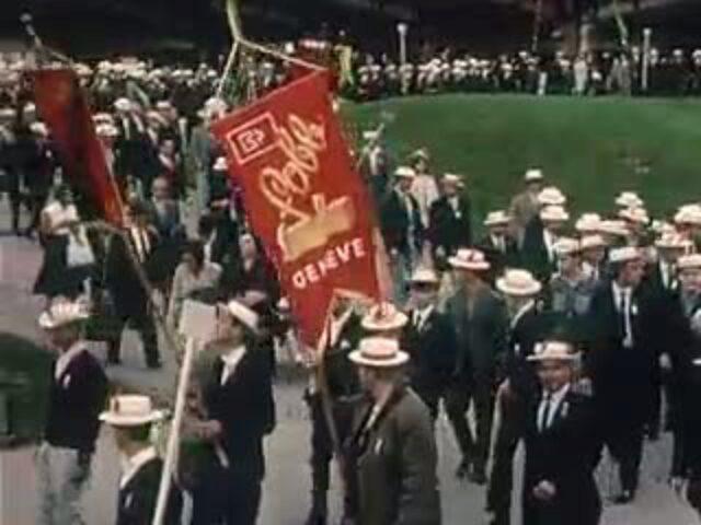 [Tagung der Bau- und Holzarbeiterjugend der französischen Schweiz, 1964 Lausanne]