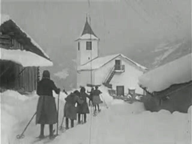 Durch die Via Mala in das Gebiet der Muntogna da Schons (ca. 1935)