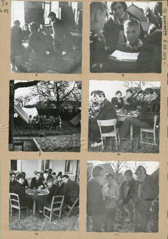 """""""Meier 12"""", Kriminalfandungsspiel - Teilnehmende am schweizweiten Spiel; um 1970"""
