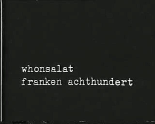 Wohnsalat [eigentlich: whonsalat franken achthundert]