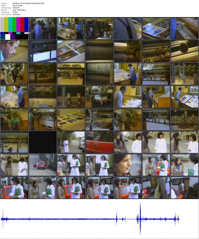 Rohmaterial: Druckerei Feuerthalen (Fotografie) - mit der Gemeindeschwester auf Tour