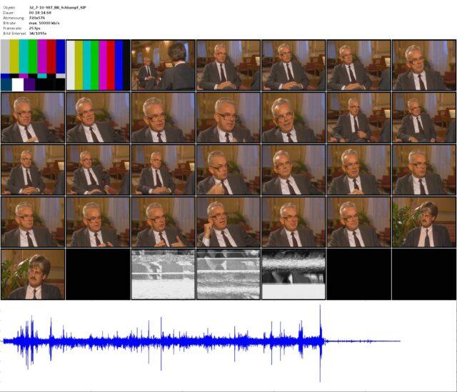 Rohmaterial/Vorproduktion: Gespräch mit Bundesrat Leon Schlumpf